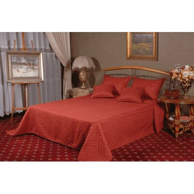 Thompsontown Reversible Bedspread Set Size: King, Color: Red