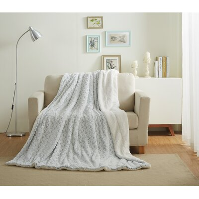 Faux Fur Soft Throw Blanket Size: 50 L x 60 W, Color: Snowy Owl
