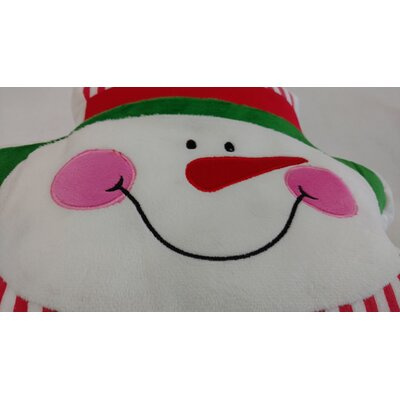 Snowman Microbead LED Throw Pillow