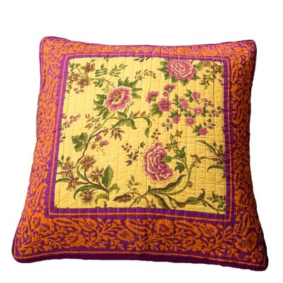 Roquefort Carnival Garden Patchwork Floral 100% Cotton Pillow Cover