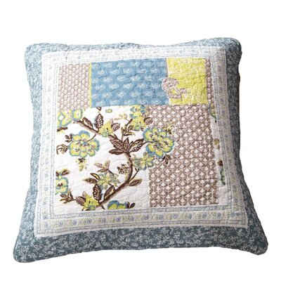 Crissay Quilted 100% Cotton Euro Pillow Cover