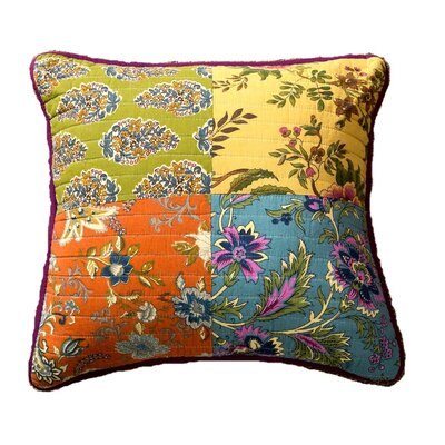 Roquefort Carnival Garden Patchwork 100% Cotton Pillow Cover