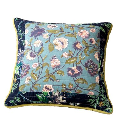 Roquefort Tropical Calla Lily Patchwork Quilted 100% Cotton Pillow Cover