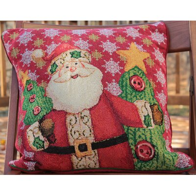 Santa Graphic Print Decorative Throw Pillow Cover