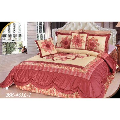 Balmer Floral Patchwork Comforter Size: Queen