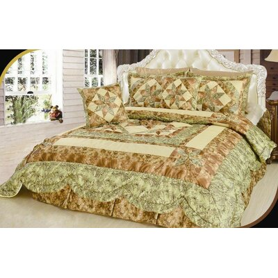 Turnham Floral Patchwork Comforter Size: Twin