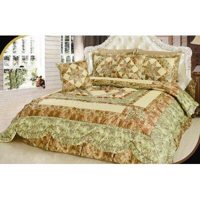 Turnham Floral Patchwork Comforter Size: Queen