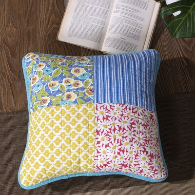 Kodra Patchwork Quilted Cotton Pillow Cover