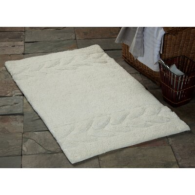 Glasgow Bath Rug Size: 36 x 24, Color: Ivory