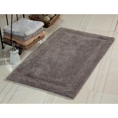 Bath Rug Size: 36 x 24, Color: Gray
