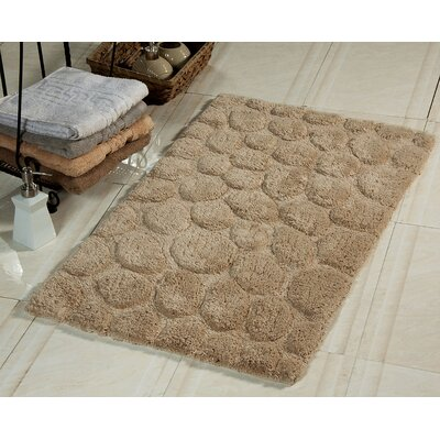 2 Piece Bath Rug Set Color: Beige