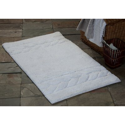 2 Piece 100% Soft Cotton Bath Rug Set Color: White