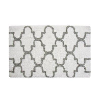 Harriette Bath Rug Size: 50 x 30, Color: White/Gray