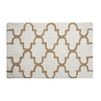 Harriette Bath Rug Size: 50 x 30, Color: White/Beige