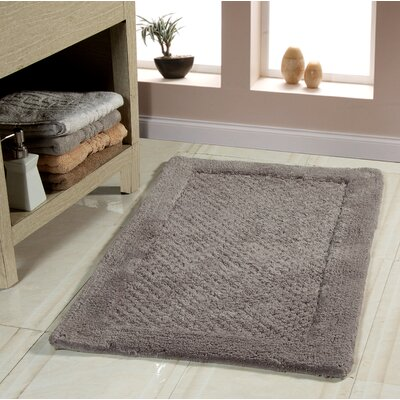 2 Piece Bath Rug Set Color: Gray