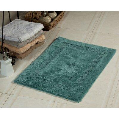 Bath Rug Size: 34 x 21, Color: Arctic Blue