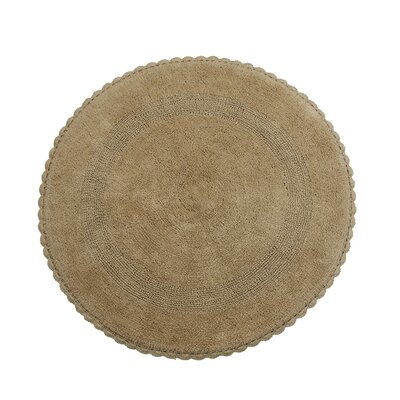 Natale 100% Soft Cotton Reversible Bath Rug Color: Beige