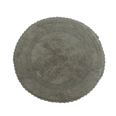 Natale 100% Soft Cotton Reversible Bath Rug Color: Gray