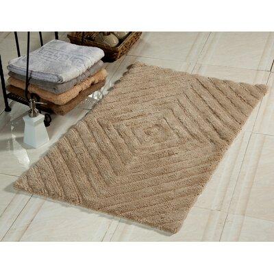 Bath Rug Size: 50 x 30, Color: Beige