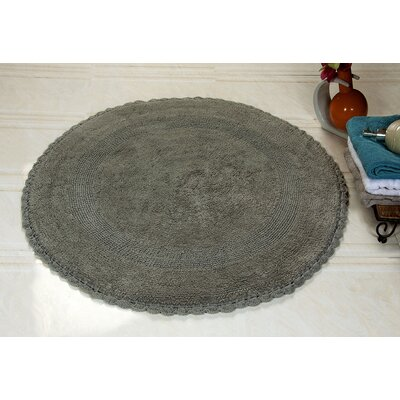100% Soft Cotton Reversible Bath Rug Color: Gray