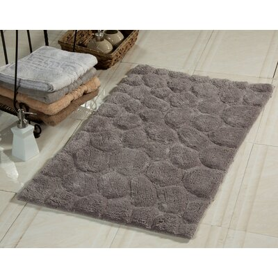 Bath Rug Size: 34 x 21, Color: Gray