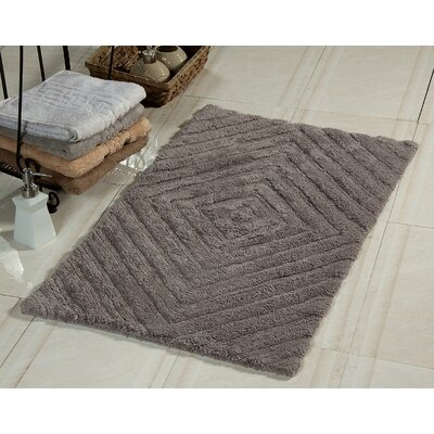 2 Piece 100% Soft Cotton Bath Rug Set Color: Gray
