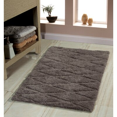 Bath Rug Color: Gray, Size: 50 x 30