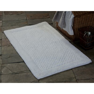 Oakside Bath Rug Size: 50 x 30, Color: White