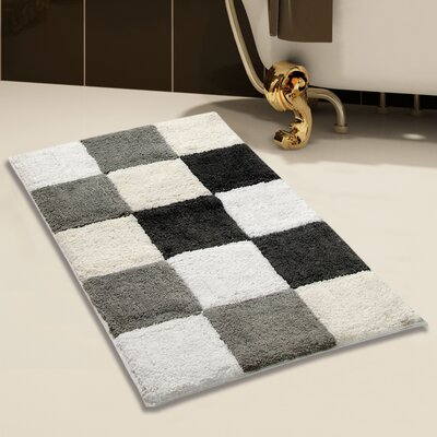 100% Cotton Bath Rug Size: 34 x 21, Color: Gray
