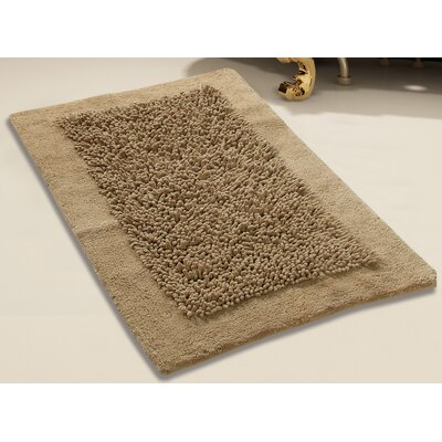 Tufted Bath Rug Set Color: Beige, Size: 24 x 17 / 34 x 21
