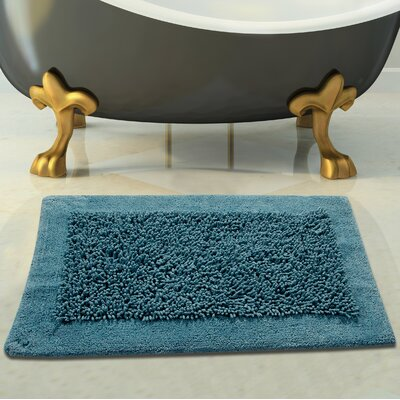 Tufted Bath Rug Color: Arctic Blue, Size: 34 x 21