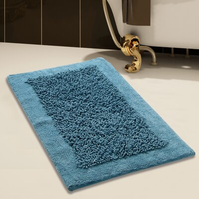 Tufted Bath Rug Set Color: Arctic Blue, Size: 24 x 17 / 34 x 21