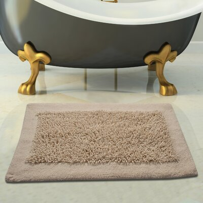 Tufted Bath Rug Color: Ivory, Size: 50 x 30