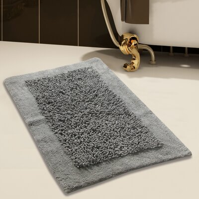 Tufted Bath Rug Set Color: Gray, Size: 24 x 17 / 34 x 21