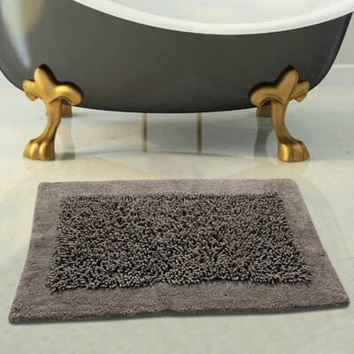 Tufted Bath Rug Color: Gray, Size: 34 x 21