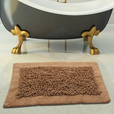 Tufted Bath Rug Color: Beige, Size: 34 x 21