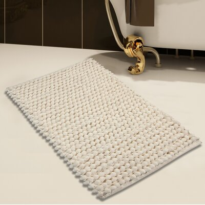 Handloom Bath Rug Size: 34 x 21, Color: Ivory
