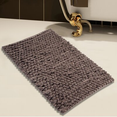 Handloom Bath Rug Color: Gray, Size: 50 x 30