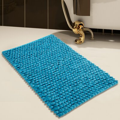 Handloom Bath Rug Color: Arctic Blue, Size: 50 x 30