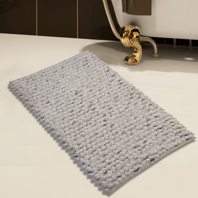 Handloom Bath Rug Color: White, Size: 50 x 30