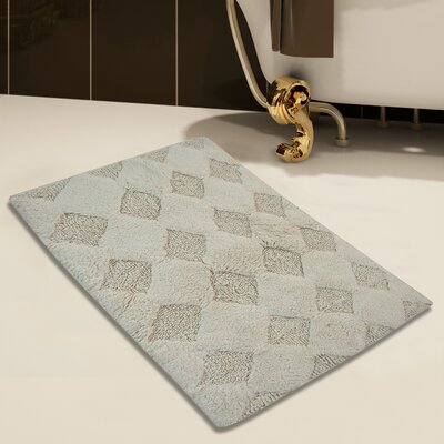 100% Soft Cotton Bath Rug Color: Ivory, Size: 50 x 30