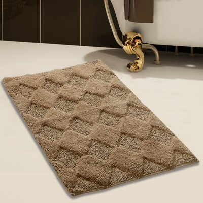 100% Soft Cotton Bath Rug Color: Beige, Size: 34 x 21