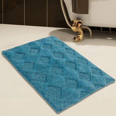 100% Soft Cotton Bath Rug Color: Arctic Blue, Size: 34 x 21