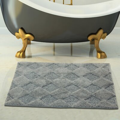 2 Piece 100% Soft Cotton Bath Rug Set Color: Gray, Size: 34 x 21 / 36 x 24