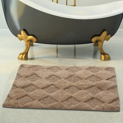 2 Piece 100% Soft Cotton Bath Rug Set Color: Beige, Size: 24 x 17 / 34 x 21