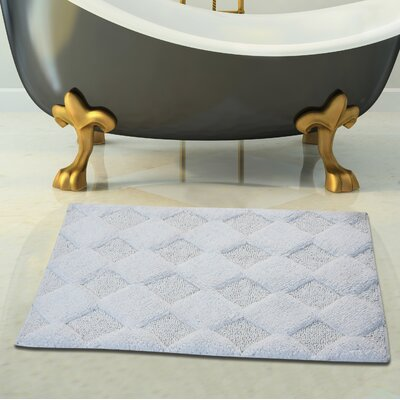 2 Piece 100% Soft Cotton Bath Rug Set Color: White, Size: 24 x 17 / 34 x 21