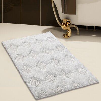 100% Soft Cotton Bath Rug Size: 36 x 24, Color: White