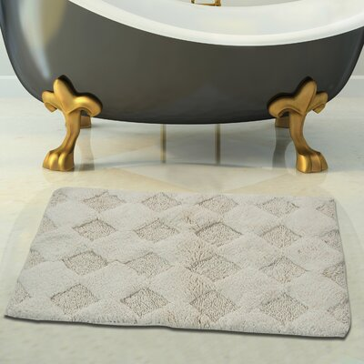 2 Piece 100% Soft Cotton Bath Rug Set Color: Ivory, Size: 24 x 17 / 34 x 21