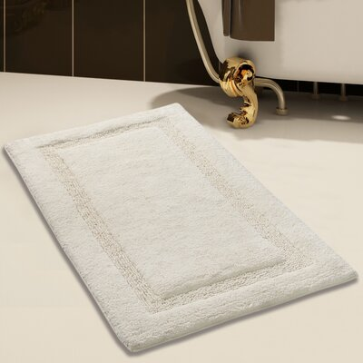 2 Piece 100% Soft Cotton Bath Rug Set Color: Ivory