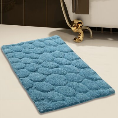 2 Piece 100% Soft Cotton Bath Rug Set Color: Arctic Blue